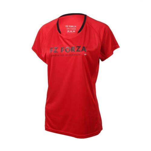 FZ Forza Blingley Womens Badminton T-Shirt (Red)