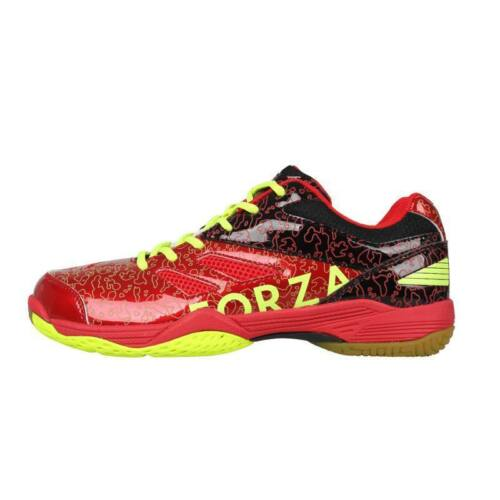 FZ Forza Court Flyer Mens Badminton Shoes (Black-Red)